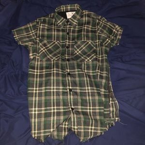 Lifted Anchors Plaid Billups/Short Sleeve Flannel